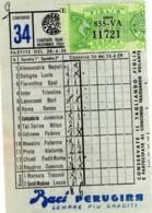 TOTOCALCIO-SCHEDINA -1950 - Alte Papiere