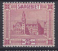 Saargebiet MiNr. 100 ** Gepr. - 1920-35 League Of Nations