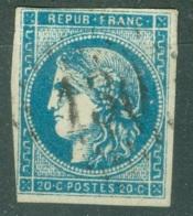 France  45 C  Type II Rep 3 Ob  Second Choix - 1870 Emissione Di Bordeaux