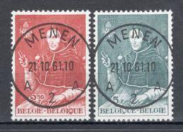 BELGIE: COB 1109/1110 Mooi Gestempeld. - Bélgica