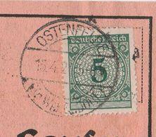 Deutsches Reich Karte Mit Tagesstempel Ostenfelde 1924 Kr Warendorf Stadt Ennigerloh Kr Warendorf - Briefe U. Dokumente