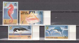 Turks & CaicosIslands 1977,4V,set,seahorse,fish,birds,vogels,vögel,oiseaux,pajaros,uccelli,aves,MNH/Postfris(A3782) - Unclassified