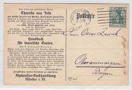 Deutsches Reich Postkarte Der Alphonsus-Buchhandlung Münster - Allemagne