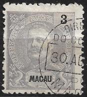 Macau Macao – 1903 King Carlos 3 Avos - Macao