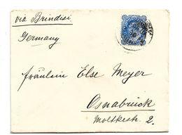 IB092 / BRIT. INDIEN - Georg V 1929 Nach Osnabrück, Deutschland 1903, Via Brindisi - India (...-1947)