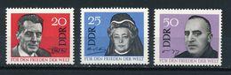 DDR Mi. 1049 - 1051 Postfr. Weltfrieden F. Curie Atomphysiker Von Suttner Ossietzky Nobelpreis - Unused Stamps
