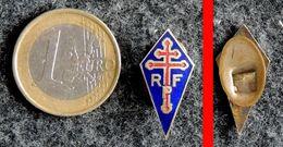 Insigne Boutonnière RPF Rassemblement Peuple Français Charles De Gaulle Fixation Par Plaque - Insignes & Rubans