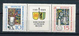 DDR Mi. 1052 - 1053 W Zd 141 Postfr. Messe Leipzig Wappen Löwe Glas Jenaer Glas - DDR