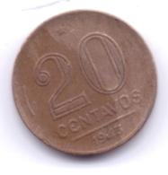 BRASIL 1943: 20 Centavos, KM 556a - Brasile