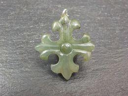 Necklace Pendant. Grade A Jadeite Jade Heraldic Cross Pendant With Certificate. Gift, Jewelry, Free Shipping. - Volksschmuck