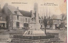 AZERABLES  Le Monument Aux Morts Pour La Patrie - France