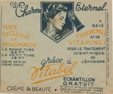 Enveloppe CCP 1938 – Pub Couleur, Radio Erres – Crème De Beauté Vitabel Exclusivement En Pharmacie - Publicidad
