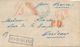 Russie Prc - Varsovie / Warszawa 1.11.1861 Vers Bordeaux 5.11.61 - Franco PD / AUS RUSLAND - Luxe - Poland