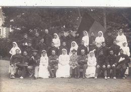 35 - PARAME : Hôpital Complémentaire De  Notre Dame Des Grèves - Groupe De Bléssés - Superbe Cartes Photo. - War 1914-18