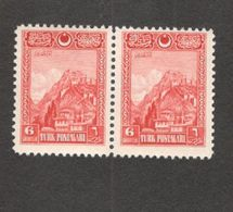 TURKEY1926:Michel850mnh** Pair Cat.Value $34(30Euros) - 1921-... Republic