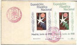 SPD MADRID HOJITAS EXPOSICION DE BRUSELAS 1958 IMPERFORATE SHEETS - 1958 – Brussels (Belgium)