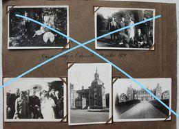 Photox5 LA NEUVILLE Région Huy Ombret Tihange Hermalle Château Garden Party 1929 - Lieux