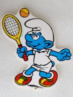 Schtroumpf Tennisman - Tennisman Smurf - Autocollant - Sticker - Vieux Papiers