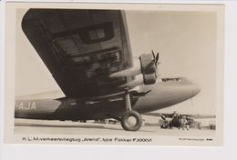 Vintage Pc KLM K.L.M. Royal Dutch Airlines Fokker F-36  @ Schiphol Airport - 1919-1938: Entre Guerres