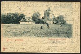 DT.REICH 1901, Nr. 55, KUPFERDRUCK-PK, ABB. BURG AUF FEHMARN, STPL-KGS KIEL - Oblitérés