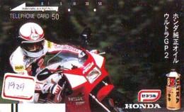 Télécarte Japon * FRONT BAR * 110-19716 * MOTO HONDA  (1929) MOTORBIKE * PHONECARD JAPAN - Motos