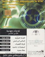255/ Morocco; P16. Radio Television (french), Chip 1B.1, 25 Units - Marokko