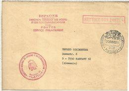 MADRID CC ALEMANIA SERVICIO FILATELICO 1981 SERVICE DES POSTES FRANQUICIA - 1931-Aujourd'hui: II. République - ....Juan Carlos I