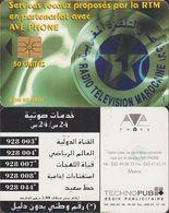 256/ Morocco; P19. Radio Television (arabic), Chip 1B.1, 50 Units - Marokko