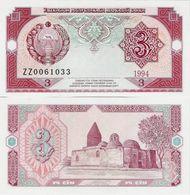 Uzbekistan 1994 - 3 Sum - Pick 74r UNC Seria ZZ Replacement - Usbekistan