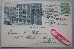 BRUXELLES : Place FONTAINAS En 1908 - Exposiciones Universales