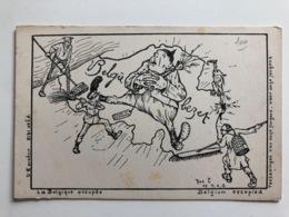 Ak Cp Belgie La Belgique Occupee Belgie Bezet - Guerre 1914-18