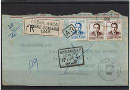 CTN63 - MAROC LETTRE RECOMMANDEE AR DECEMBRE 1966 - Maroc (1956-...)