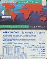265/ Morocco; P1. Map Of The World, 20 Ut. - Marokko