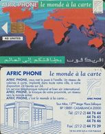 266/ Morocco; P2. Map Of The World, 40 Ut. - Marokko