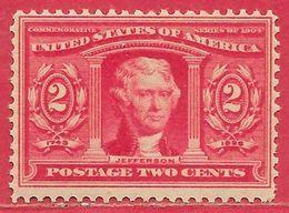 Etats-Unis D'Amérique N°160 2c Rouge 1904 ** - United States