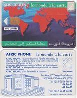 267/ Morocco; P3. Map Of The World, 100 Ut. - Marokko