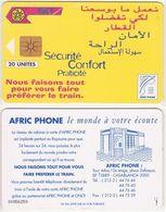 268/ Morocco; P4. Railways Advertising, 20 Ut. - Marokko
