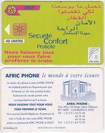 269/ Morocco; P4. Railways Advertising, 40 Ut. - Marokko