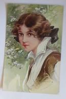 Künstlerkarte, Frauen, Mode, Hutmode, 1908,signiert   ♥  (6847) - Künstlerkarten