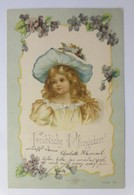Pfingsten, Kinder, Mode, Hutmode, Veilchen,  1901 ♥ (22231) - Kinder