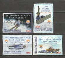 Guinee 2002 Mi 3738-3741 MH WINTER OLYMPICS SALT LAKE CITY - Winter 2002: Salt Lake City