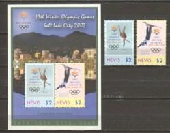 Nevis 2002 Mi 1789-1790 + Block 213 MNH WINTER OLYMPICS SALT LAKE CITY - Winter 2002: Salt Lake City