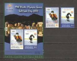 Micronesia 2002 Mi 1328-1329 + Block 111 MNH WINTER OLYMPICS SALT LAKE CITY - Winter 2002: Salt Lake City
