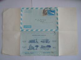 Israel Aerogramme Stationary Entier Postal 1964 0.20 +0.05 Accadia Grand Hotel Herzliya To Century Hotel Anvers Belgique - Aéreo