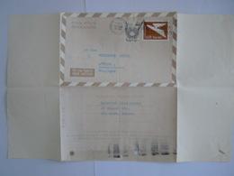 Israel Aerogramme Stationary Entier Postal 1966 0.25 +0.05 Tel-Aviv To Exelsior Hotel Anvers Belgique - Aéreo