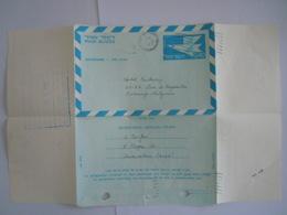 Israel Aerogramme Stationary Entier Postal 1971 0.40 Jerusalem To Century Hotel Antwerp Belgium - Aéreo