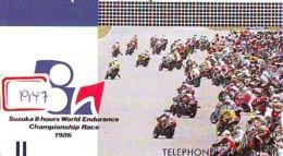 Télécarte Japon * FRONT BAR * 330-2228 * GRAND PRIX 1986 * SUZUKA 8-HOURS * MOTO  (1947) MOTORBIKE * PHONECARD JAPAN - Motos