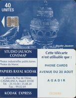 276/ Morocco; P2. Blue Vase; Phone Cards, Agadir - Marokko