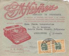 Ecuador 2x298 Auf Brief Nach Deutschland Rückklappe Fehlend - Ecuador