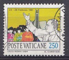 Vatikaan 1984  Mi.nr. 855 Weltreisen   OBLITÉRÉS-USED-GEBRUIKT - Vatican
